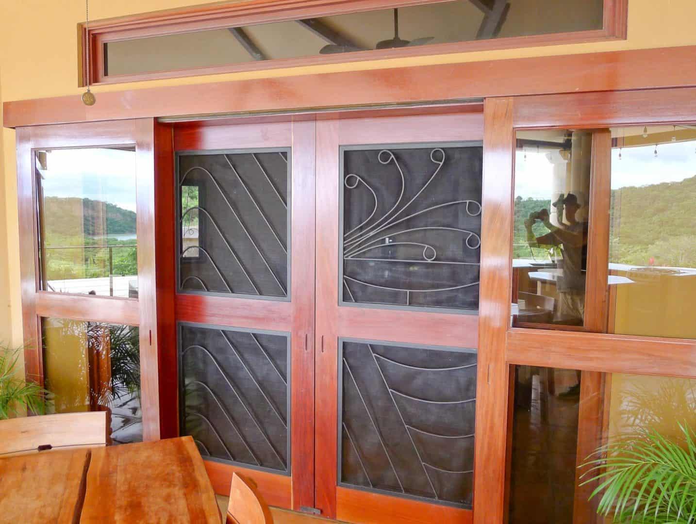 Ornate screen doors